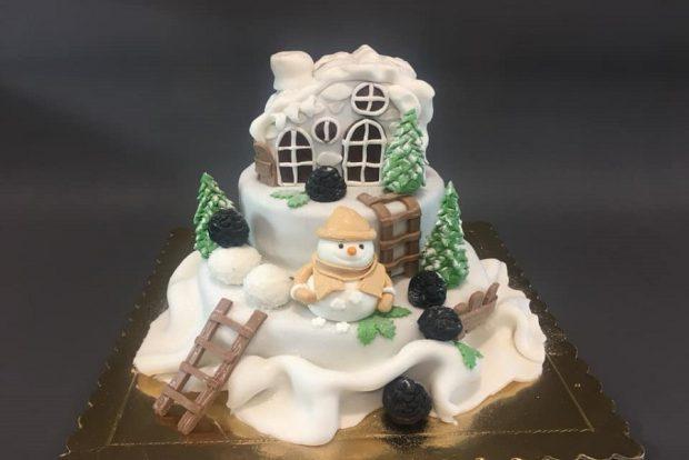 Birthday cake christmas2