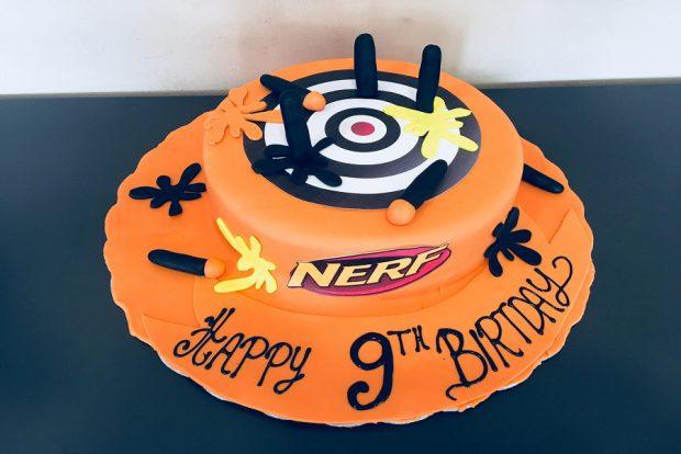 Birthday cake nerf