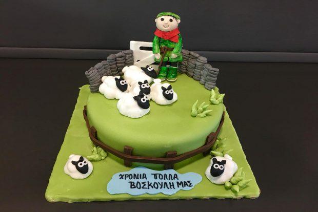 Birthday cake sheep