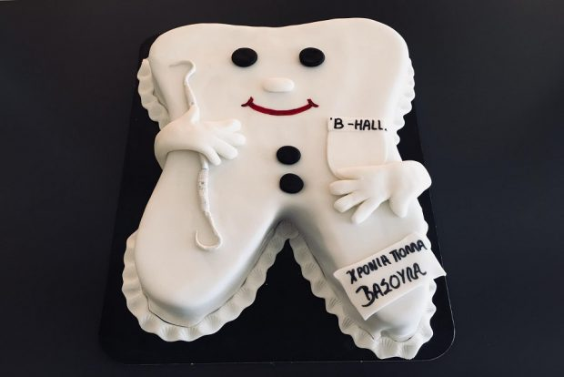 Birthday cake tooth