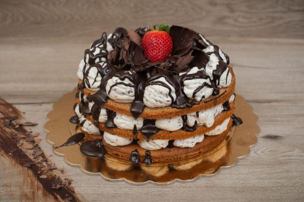 Naked cake stracciatella
